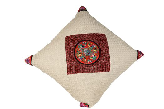 Chinese traditional pillow isolated on white background