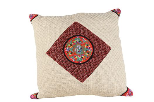 Chinese traditional style pillow isolated on white background