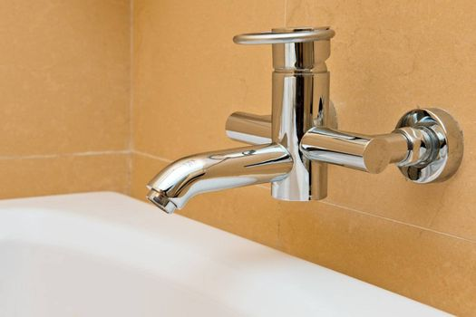 water faucet in the modern bathroom