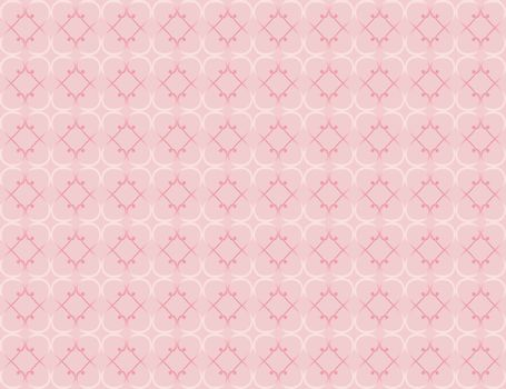 pink seamless pattern made of vintage valentines