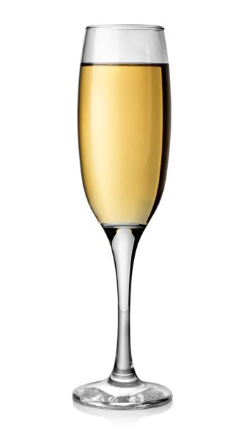 White wine in tall glass