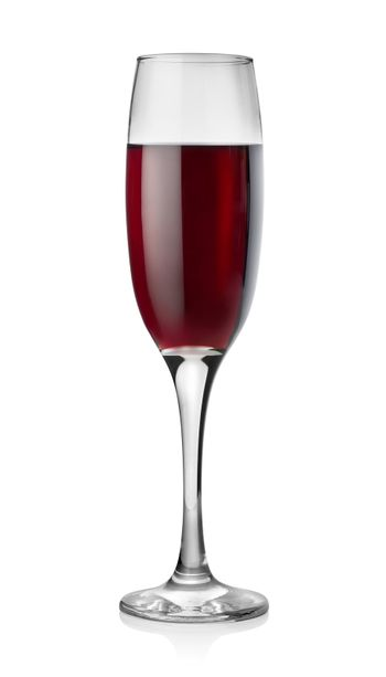 Wine in tall glass