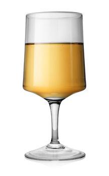 Rectangular glass of white wine