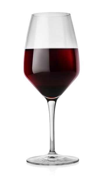 Winglass and red wine