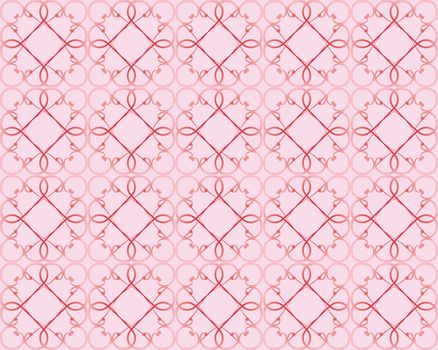 seamless  pattern made of  vintage valentines