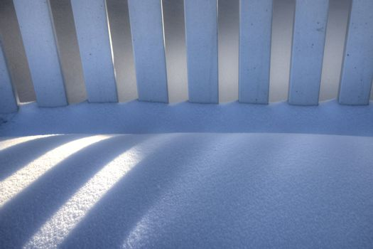 White Picket Fence in Winter