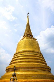 Wat Saket temple , the golden mount, Bangkok, Thailand