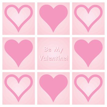 be my valentine congratulation card