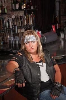 Annoyed Female Gang Member