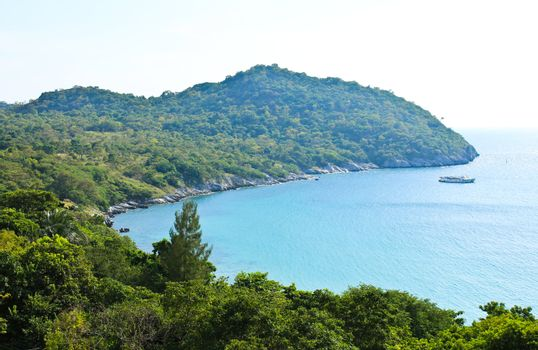 View point of Sichang Island, Chonburi province, Thailand.