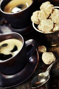 freshly prepared  italian espresso