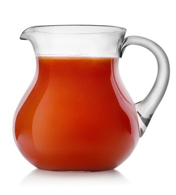 Tomato juice in a jug