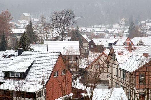 snowstorm over Ilsenburg, Germany
