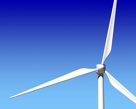 Wind Generator Turbine over Blue Sky