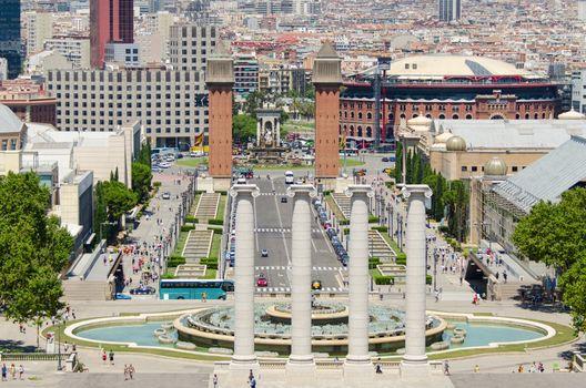 Spania square in Barcelona Spain
