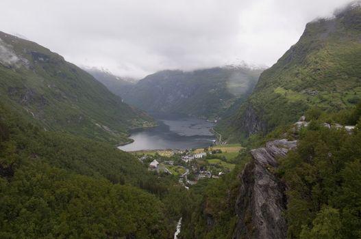 Geiranger Fjord overcast