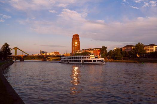 Frankfurt city before sunset