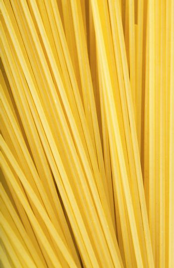 Closeup view of a bunch of spaghetti