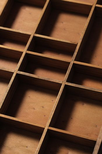 drawer wooden compartments empty
