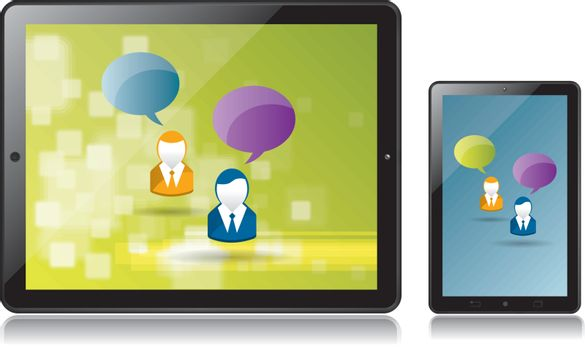 communication and generating business through social network