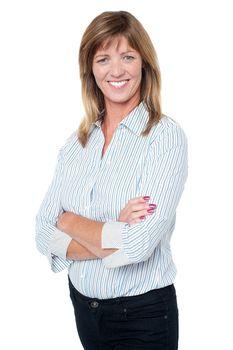 Confident casual businesswoman