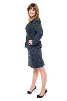 Stylish blonde entrepreneur in formals