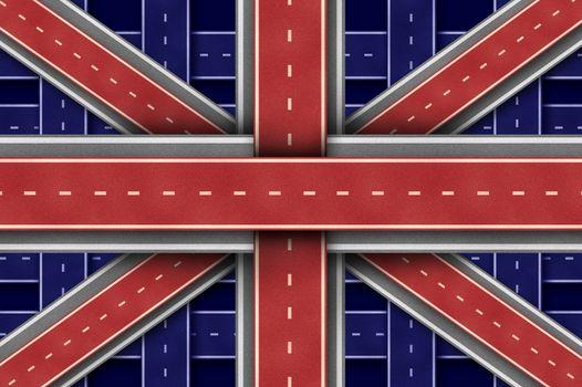 Great Britain Road Flag