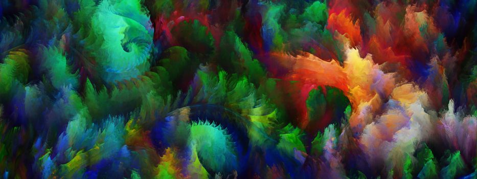 Colorful three dimensional textures