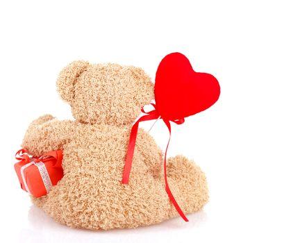 Back side of teddy bear