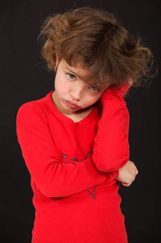 Little grumpy girl