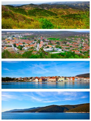 set of photo of the Istrian part of the Adriatic coast