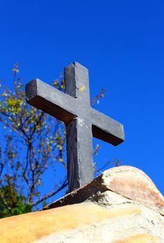 Stone cross background