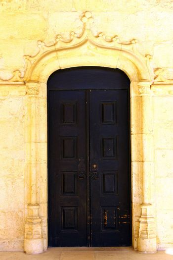 Detail of a door at the Jeronimos Monastery, Lisbon, Portugal