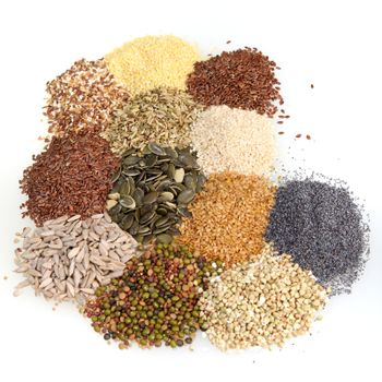 Large assortment of edible seeds