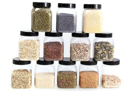Display of edible seeds