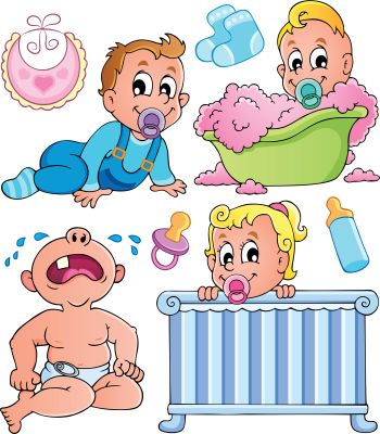 Babies theme collection 1 - vector illustration.