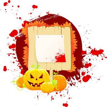 Halloween dark back, vector illustration