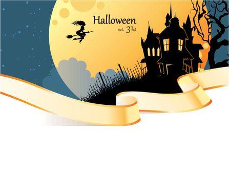 Vector illustration of Halloween dark back