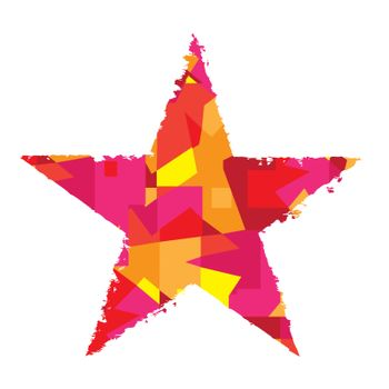 Abstract color star on a white background