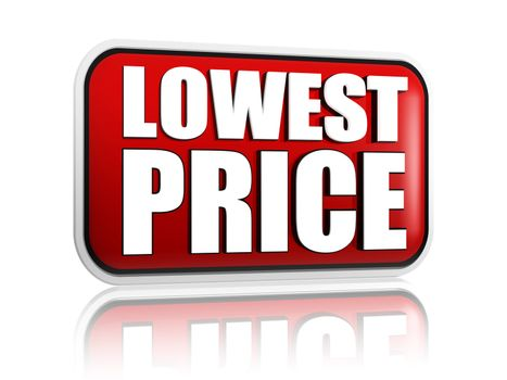 lowest price in red banner