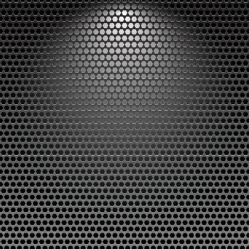 Dark stainless grille metal texture background