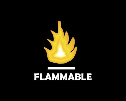 flame illustration,  flammable
