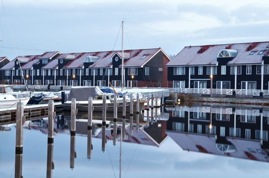 marina in early morning, Groningen