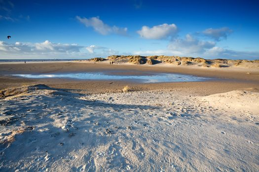 sand beach in Ijmuiden by North sea