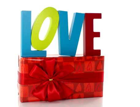 valentines day with love and a present