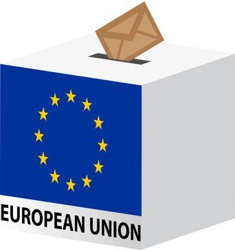vote poll ballot box for European Union elections
