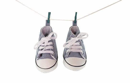 baby shoes hanging