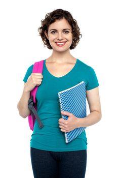 Charming young university girl