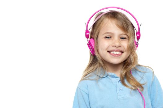Cheerful pretty music lover
