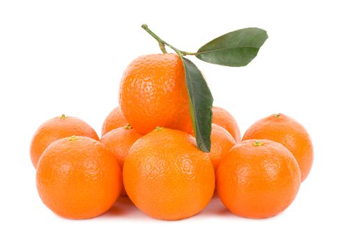 tangerines, isolated on white